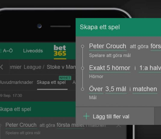bet365 Bet Builder SWE
